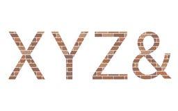 Lettres XYZ dans les briques illustration libre de droits