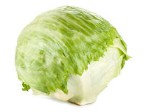 Lettuce. Iceberg isolated on white Stock Image