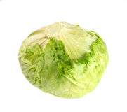 Lettuce. Green fresh lettuce isolated on white Royalty Free Stock Photography