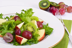 Lettuce, Apple and Grapes Salad stock photo