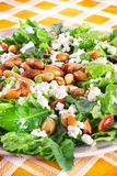 Lettuce, arugula, almond and cheese salad Royalty Free Stock Photography