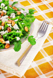 Lettuce, arugula, almond and cheese salad Royalty Free Stock Photos