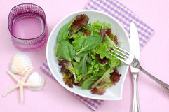 Lettuce,arugula,spinach diet salad Stock Photo