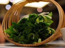 Lettuce. Baskets of lettuce under the lights Royalty Free Stock Photos