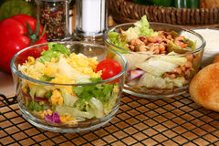 Lettuce and Bean Salads Royalty Free Stock Image