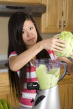 Lettuce blender Royalty Free Stock Photography