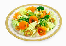 Lettuce and carrot Stock Images