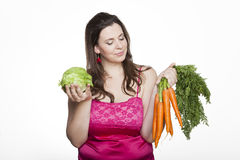 Lettuce or carrots royalty free stock photography