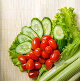 Lettuce, cucumber, tomato and celery Royalty Free Stock Photo