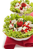 Lettuce with cucumber, zucchini and strawberri Stock Photography