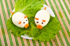 Lettuce and egg. Stock Image