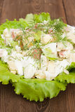 Lettuce with fresh leaves Royalty Free Stock Photos