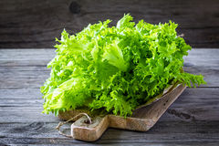 Lettuce. Fresh lettuce on a wooden table Stock Photo