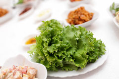 Lettuce in korean restaurant Royalty Free Stock Photos