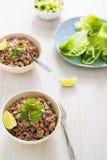 Lettuce larb wraps Stock Images