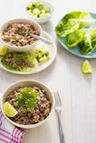 Lettuce larb wraps Stock Image