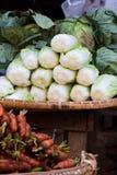 Lettuce at market in Myanmar Stock Images
