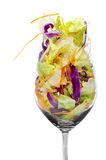 Lettuce mix on a glass Royalty Free Stock Images
