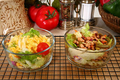 Lettuce and Pea Salads Stock Image