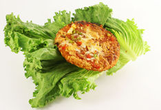 Lettuce and pizza Royalty Free Stock Images