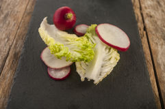 Lettuce radish close up. Fresh lettuce radish close up Stock Image