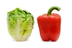Lettuce and red pepper Stock Image