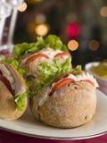 lettuce roast rolls tomato turkey στοκ φωτογραφία με δικαίωμα ελεύθερης χρήσης