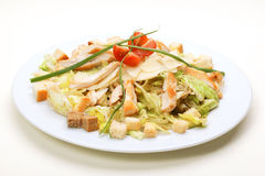 Lettuce salad with Chicken Stock Image