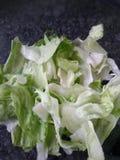 Lettuce salad closeup. Closeup view of iceberg lettuce salad Royalty Free Stock Photos