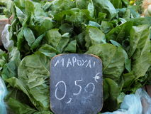 Lettuce For Sale Royalty Free Stock Photography