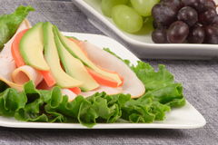 Lettuce sandwich. Perfect for dieters or just healthy food lovers Stock Photography
