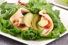Lettuce sandwich wrap Stock Images