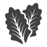 Lettuce solid icon, vegetable and salad leaf. Vector graphics, a glyph pattern on a white background, eps 10 Stock Photography