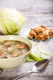 Lettuce soup Royalty Free Stock Image