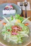 Lettuce stir fish sauce Stock Image