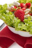 Lettuce with strawberries Royalty Free Stock Image