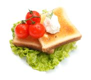 Lettuce with toast Stock Image
