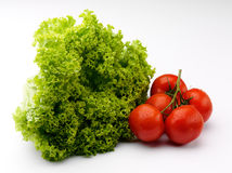 Lettuce and tomato Stock Image