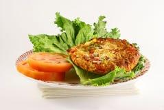 Lettuce Tomatoe And Pizza Royalty Free Stock Photo