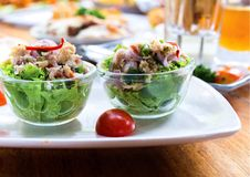 Lettuce with tuna salad Stock Photo