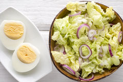 Lettuce. Vegetarian food, light snacks. Stock Image