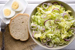 Lettuce. Vegetarian food, light snacks. Stock Photo
