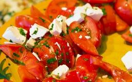 Lettuce whit garden fresh tomatoes Stock Photos