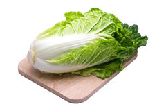 Lettuce on wood Stock Photos