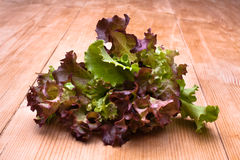 Lettuce on wooden table Royalty Free Stock Image