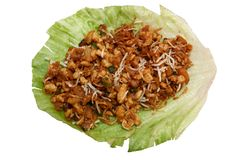 Lettuce wrap with clipping path Stock Image