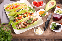 Lettuce wrap Royalty Free Stock Images
