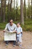 Lettura cartografica Fotografia Stock