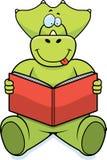 Lettura del dinosauro Fotografie Stock