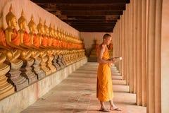 Lettura del monaco Fotografia Stock